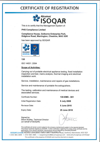 Image of ISO 14001 Certificate