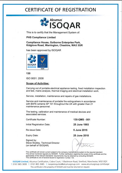 Image of ISO 9001 Certificate